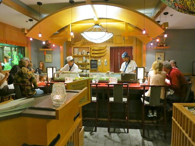 Banff Sushi at Fairmont Banff Springs Hotel http://wanderingcarol.com/banff-canada/