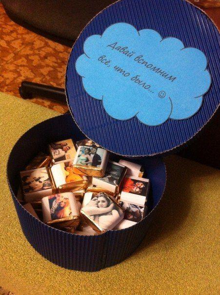 Идея романтического подарка: Шоколадки с вашими фото