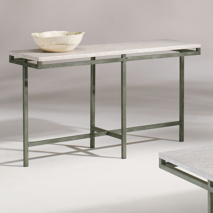 Metal Stone Modern Rectangular Console Table Ebay