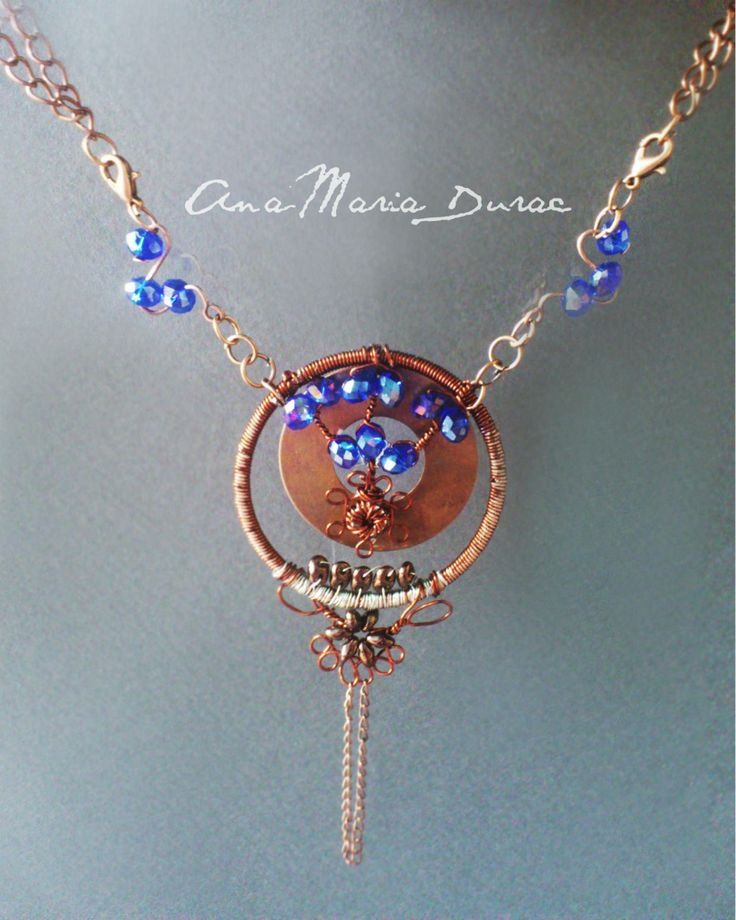 wire and beads neaklace