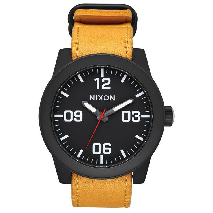 Nixon The Corporal Watch - Black/Goldenrod | Black/Goldenrod Nixon Watch | KJ Beckett