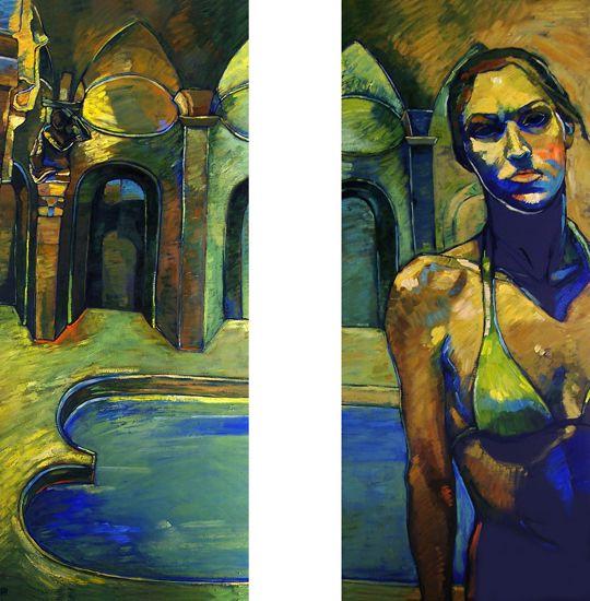 Papageorgiu Andrea  'Imaginary bath'  2011  Oil on panel