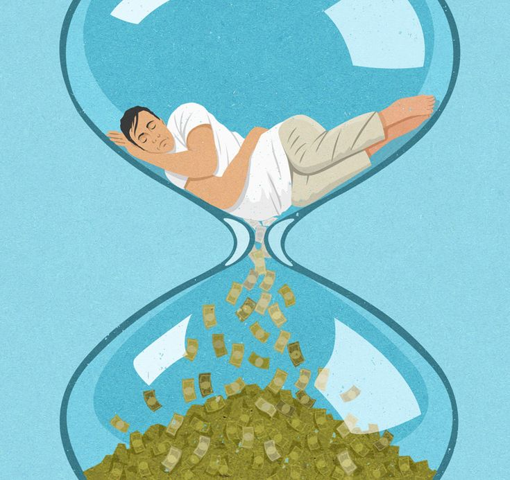 an image about money not made due to sleeping in, but the idea could easily be appropriated in other ways // illustration by john holcroft
