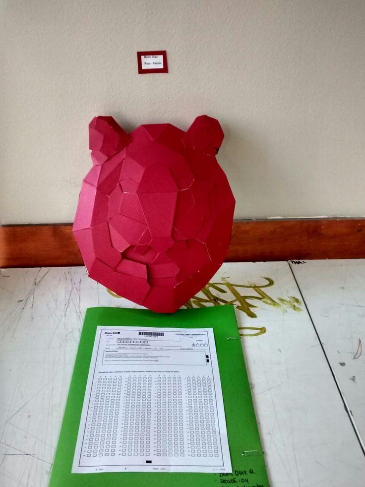 Examen taller de elementos gráficos- tigre técnica, cartón blanco y cartulina española
