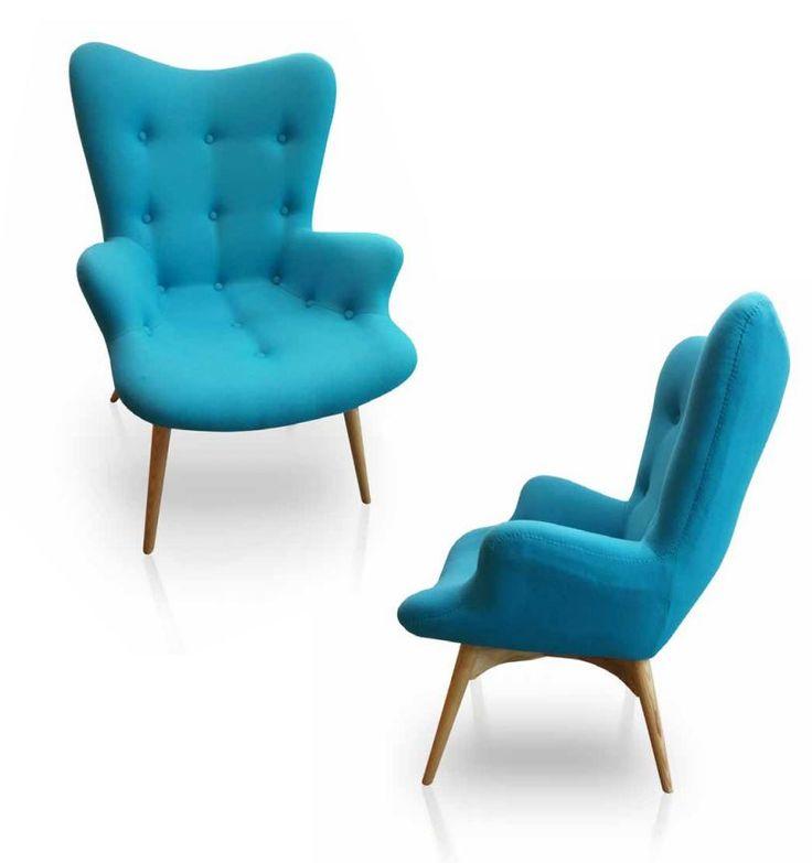 Fauteuil vintage turquoise