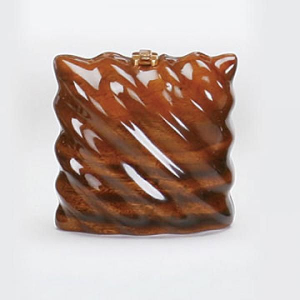 Jimmy Woods - Pillow handbag, acacia wood.