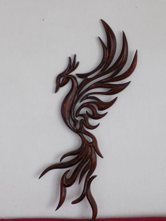 Phoenix Carving Wall  Phoenix bird Handmade Wooden by Artwood6