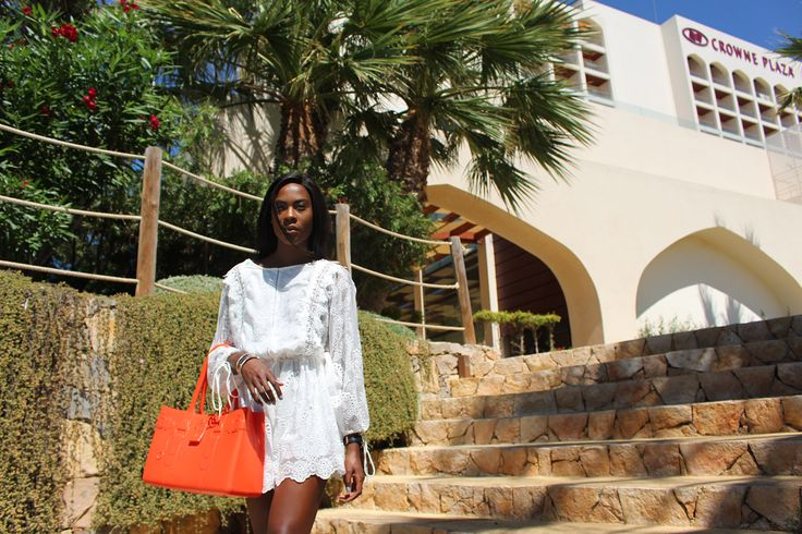 by Danydsha Naomi Lace Jumpsuit in Vilamoura, Portugal