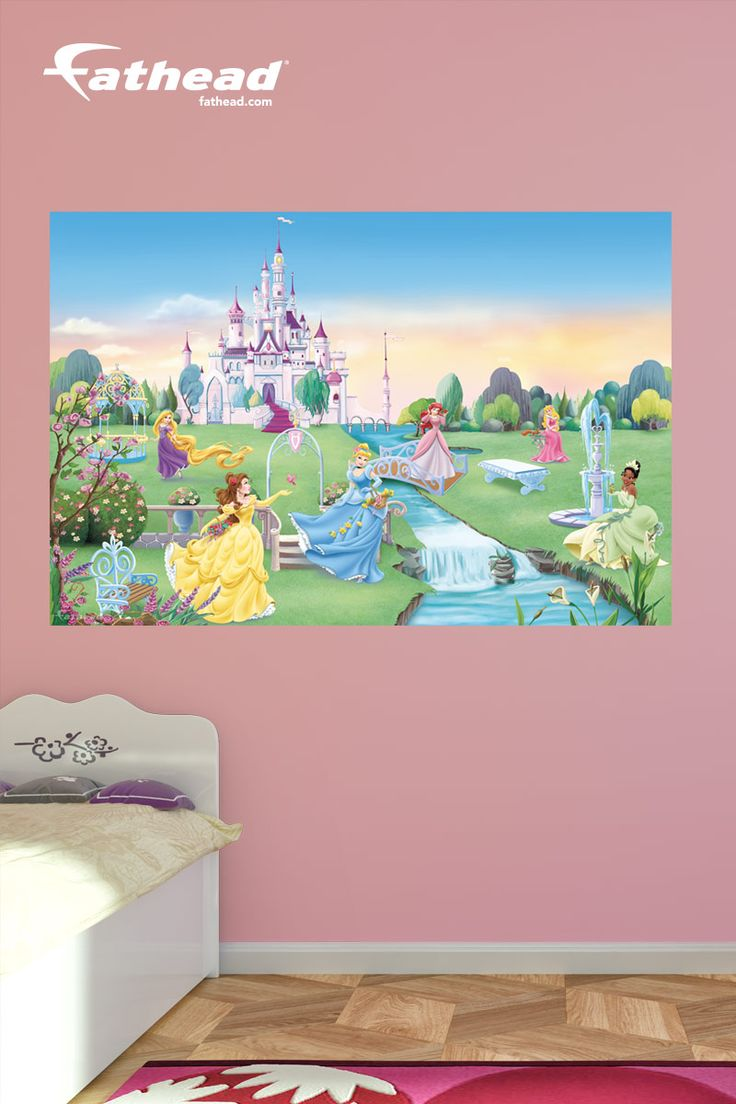 Best 25 princess mural ideas on pinterest castle mural for Disney princess wall mural tesco