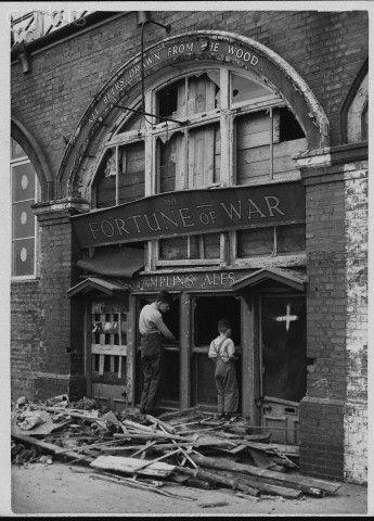 War Damaged Brighton Pub - HU033654 - Rights Managed - Stock Photo - Corbis