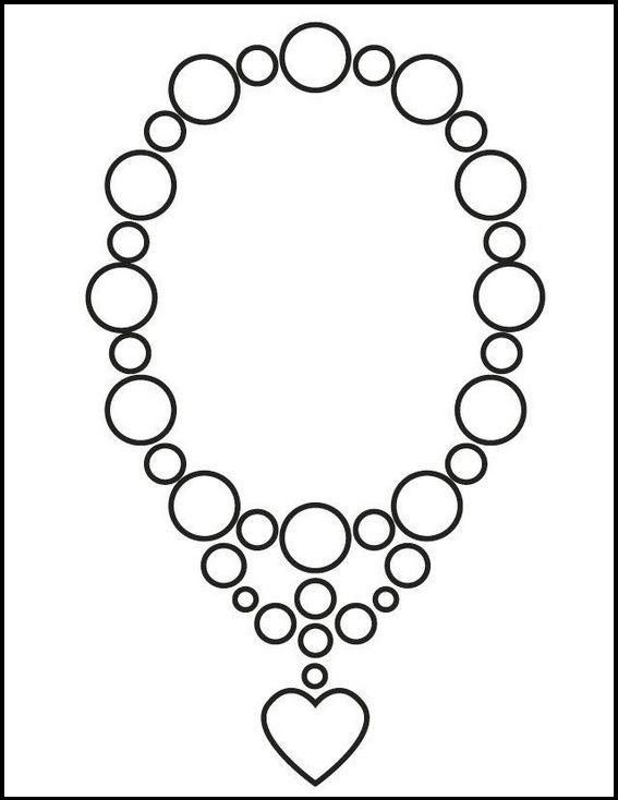 Jewelry Necklace Wedding Coloring Picture Wedding Coloring Pages