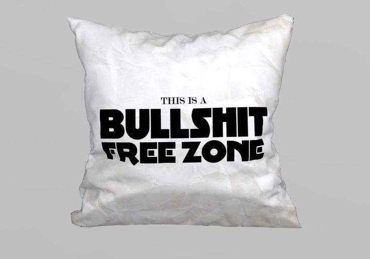 This is a Bullsh*t Free Zone Pillow 45x45cm - (without Filling) by magicdallas on Etsy https://www.etsy.com/listing/249413942/this-is-a-bullsht-free-zone-pillow