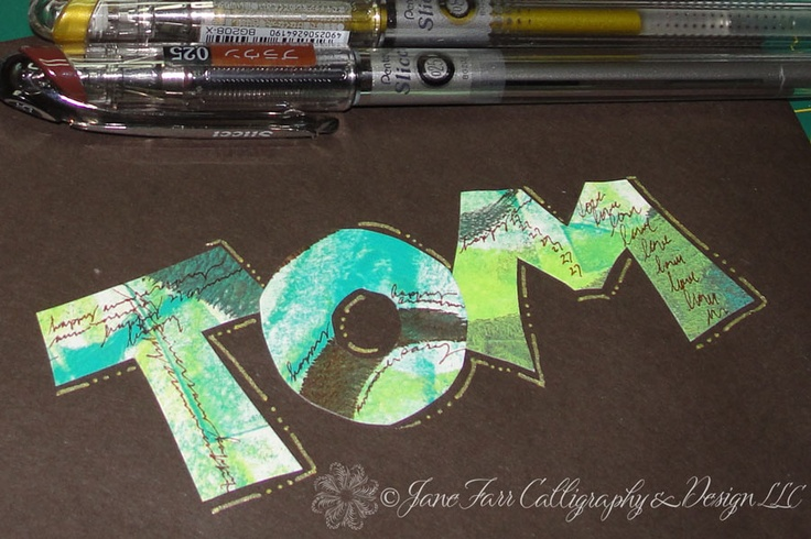A Place To Flourish: Calligraphy Flourish Friday - Gelli Arts Printing Plate