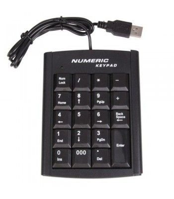 Introductions:1. Condition: NEW2. Keyboard Interface: USB3. System Requirement: 1 USB4. Compatibility: Desktop5. Design Style: Standard6. Operating System: Windows ME / 2000 / XP / Vista7. Color: Black9. Dimensions: 13 x 10cm(L x W)Package Includes:1 x USB Numeric Keyboard  Features : Operating System: Windows ME / 2000 / XP / Vista *Dimensions: 5.12 x 3.94 *Ideal for typing emails, chatting and playing games *It has innovative design of the navigation keys, which is ideal for typing…