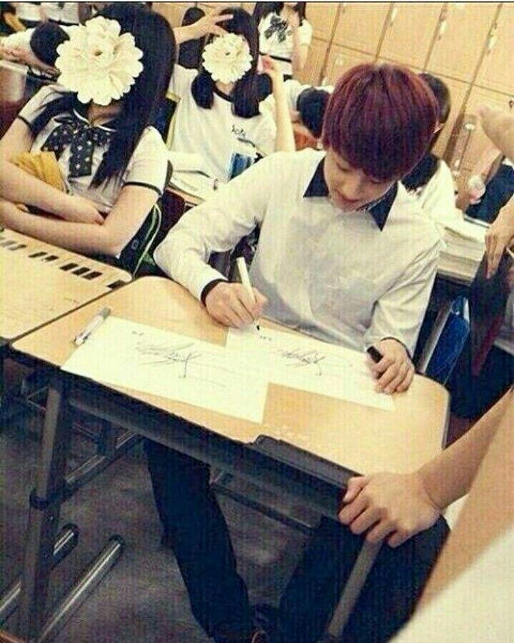Poor jungkook he can't even catch a break at school