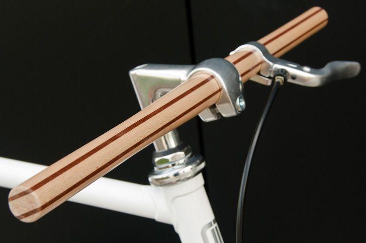 Bici da corsa a scattofisso con manubrio in legno stile Vintage - drcicli.