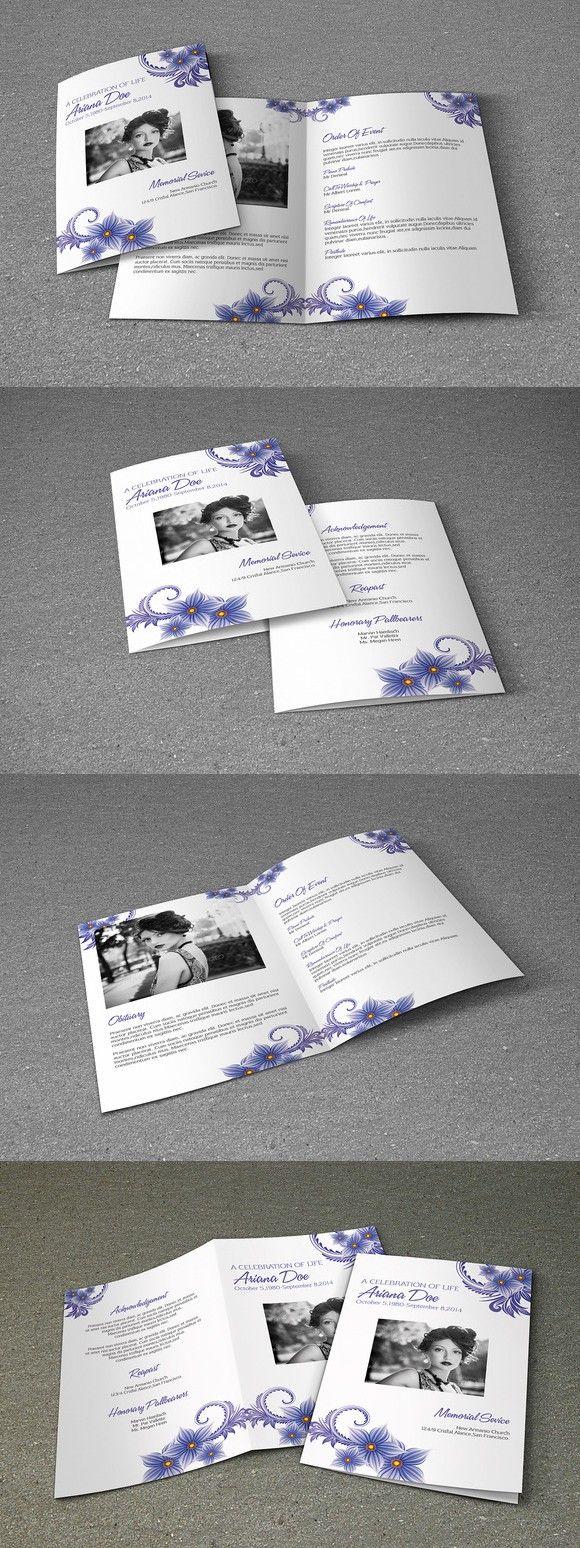 89 best Funeral Programs images on Pinterest | Brochure template ...