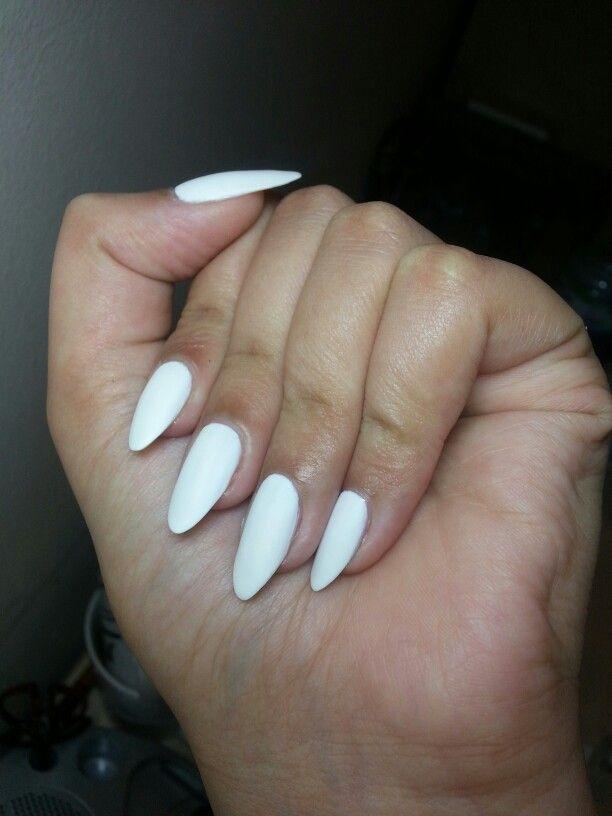 Matte White nails | Nails;) | Pinterest | Matte White ... Almond Nails Tumblr