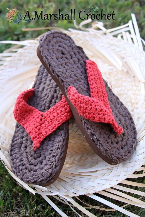 Crochet Adult Flip Flops for Summer