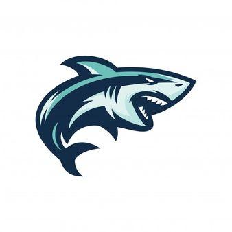 Tiburón - vector icono ilustración mascota  7f0f6dcf1744e