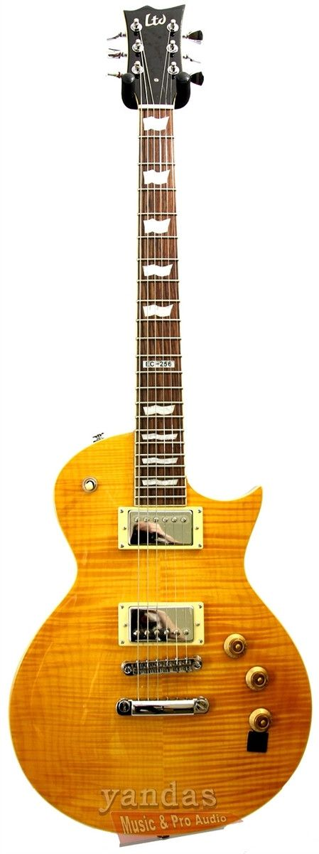 The LTD EC-256FM will stun your audience with its beautiful flame maple top over a mahogany body. Youll get massive sustain with its set neck and ESP Humbuckers. And they even remembered to put a push