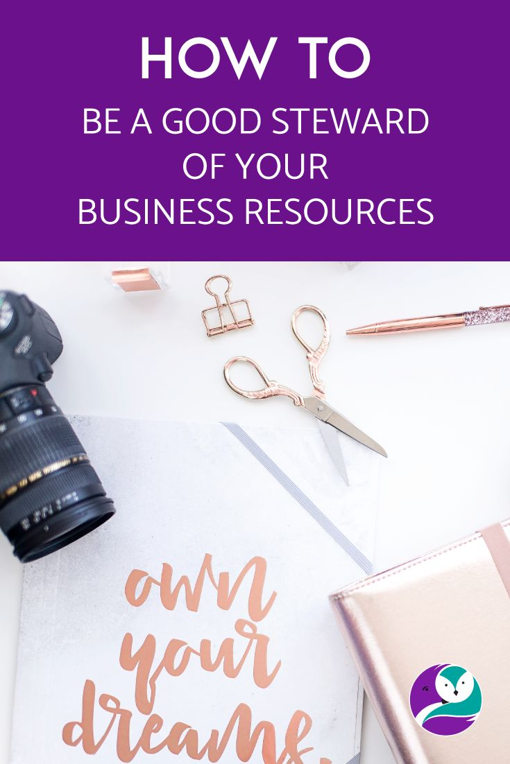 I chat about how to be a good steward of your business resources, and what that means.