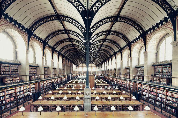 Gorgeous Photos of the Worlds Most Beautiful LibrariesParis - Sainte Geneviève Library (Bibliothèque Sainte Geneviève)