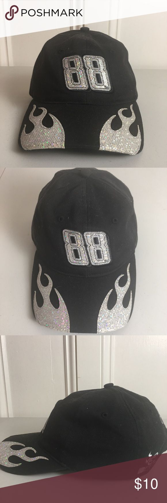 Dale Earnhardt '88' NASCAR Strapback Hat Dale Earnhardt '88' NASCAR Strapback Hat. Black with silver detail. One Size. 100% cotton. Previously owned, good condition. Accessories Hats