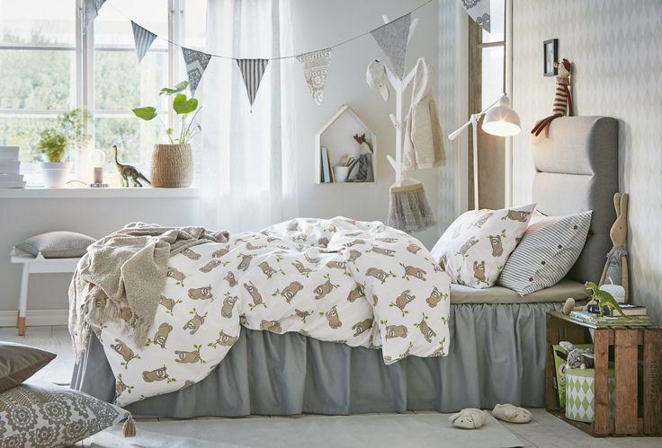 SID är av 100% ekologisk bomull. En favorit i barnrummet med sina neutrala färger.