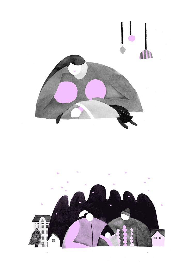 <Family> illustration by wensi zhai