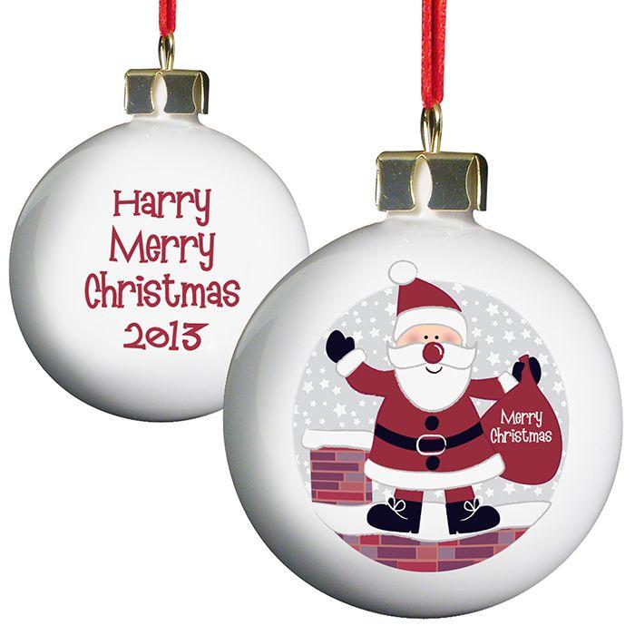 Personalised Santa Christmas Bauble