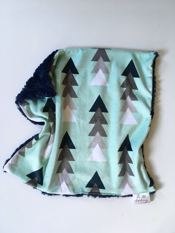 Navy Geometric lovey- triangle Baby lovey security Blanket, minky Baby Blanket, hipster Nursery, arrows baby lovey, mountains, modern by DwellDarling on Etsy