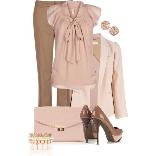 Pretty In Pink by averbeek on Polyvore featuring polyvore, fashion, style, Chloé, Ted Baker, Wallis, Oasis and Graziela Gems