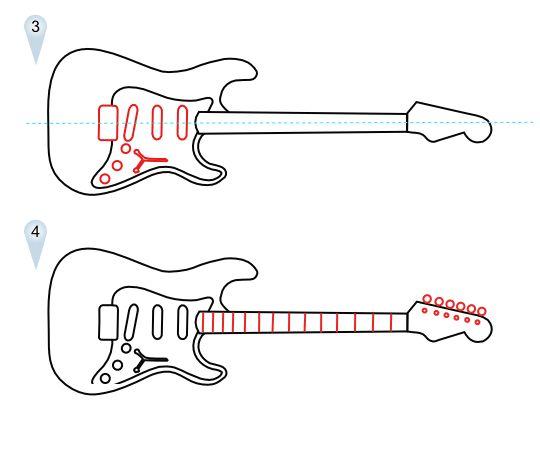 Pictures Of Simple Guitar Sketch Kidskunst Info