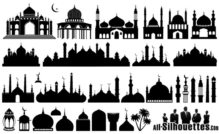Islamic Mosque Silhouettes Vector EPS Free Download, Logo, Icons, Brand Emblems