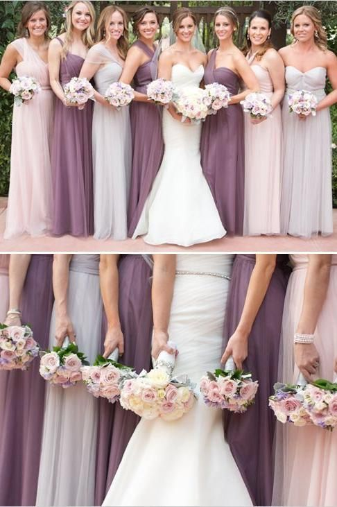 Ombré - 7 Bridesmaid Dress Trends for 2017 - Southernliving. The whimsical trend is the next step in the choose-your-own-dress trend, which first caught on when brides began having bridesmaids choose different styles in the same color. pinterest.com