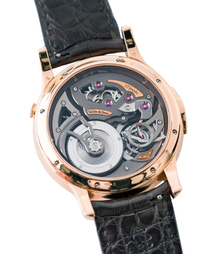 in-house calibre Romain Gauthier Logical One red gold dress watch by independent watchmaker at A Collected Man London