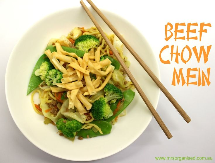 Beef Chow Mein … One Pot, One Bowl … the whole family will love this one … so easy to make yet so delicious!