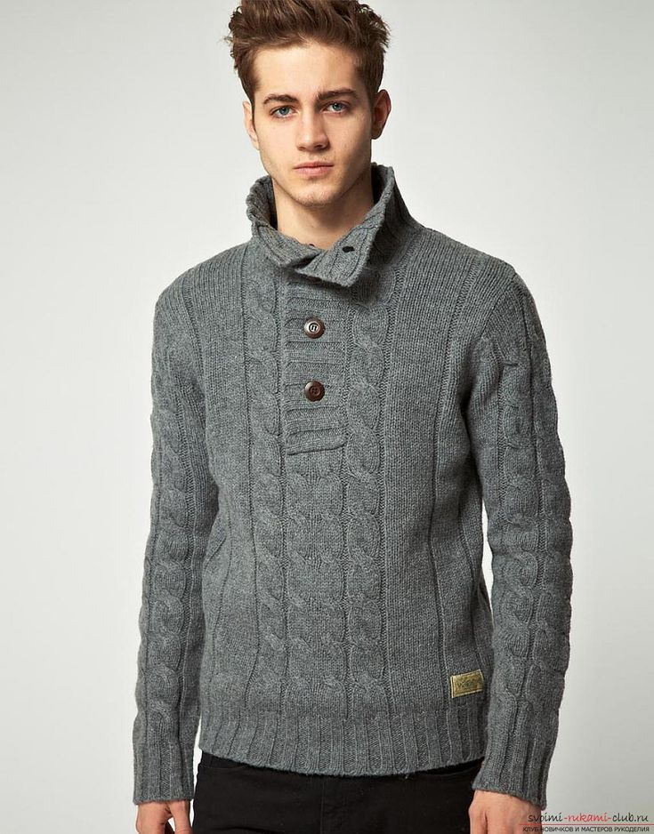 свитер воротник на пуговицах застежкой связать - Поиск в Google