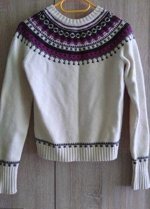 #gap #wool #lamb #wełnianysweter #zima  Kup mój przedmiot na #vintedpl http://www.vinted.pl/damska-odziez/swetry-z-dekoltem/16393211-welniany-aztecki-sweter-gap-rozmiar-s-100-lambs-wool