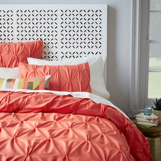 Organic Cotton Pintuck Duvet Cover + Shams   Bergamot | West Elm. Grey Coral  BedroomBlue ... Part 83