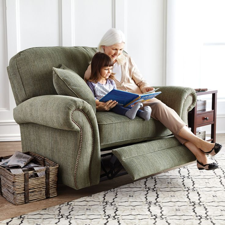 Broyhill® 'Bradbury Snuggler' Recliner Chair. This is a beautiful piece of furniture, perfect for your family room or den, with on-trend nailhead trim and a cozy recline feature.