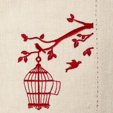 #BirdCage #CocktailNapkins - Add some style to those #cocktailparties with these classy cocktail napkins with an embroidered motif.