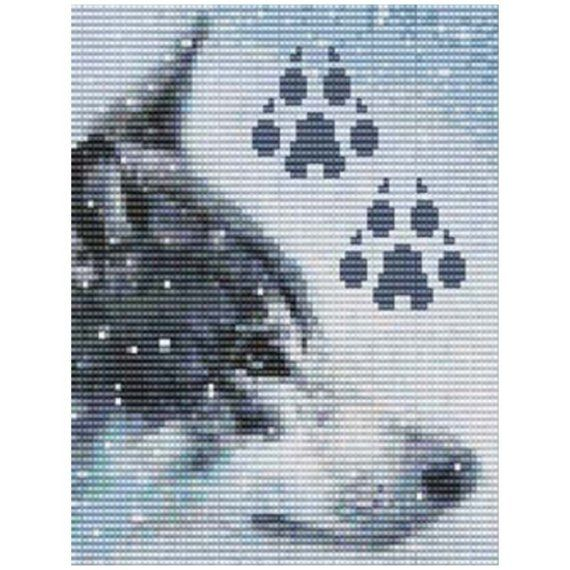 Wolf Bead Pattern Loom Or Peyote