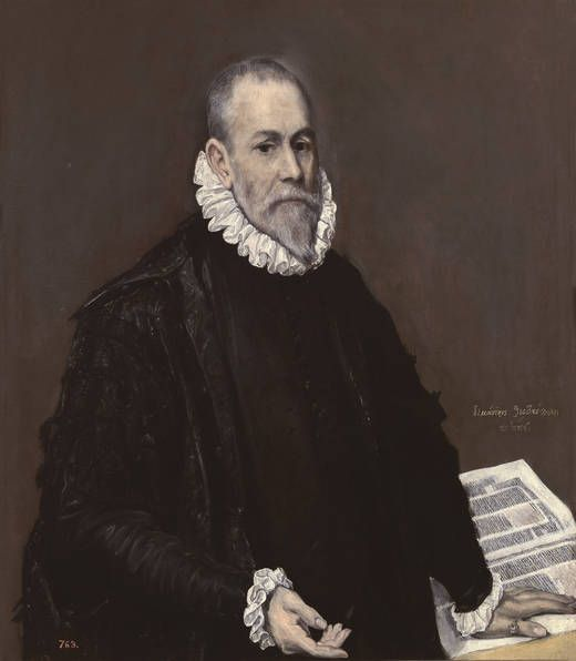 """""""Retrato de un médico"""", El Greco (1582-1585)"""