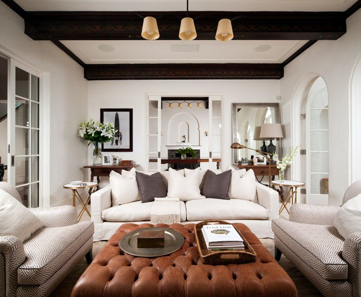 With ideas of cozy dancing in my mind for my living room, I stumbled across a living room designed by Coco Republic Interior Design and quickly took note. From the tufted ottoman (you can find affordable versions here), to the clean palette, this 1930s Spanish remodel beckons owner and guests to sit, relax and unwind. …