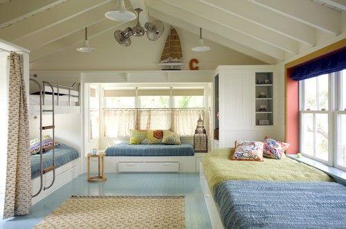 .: Kids Bedrooms, Idea, Beaches House, Kids Photo, Bunk Beds, Bunk Rooms, Bunkroom, Kids Design, Kids Rooms