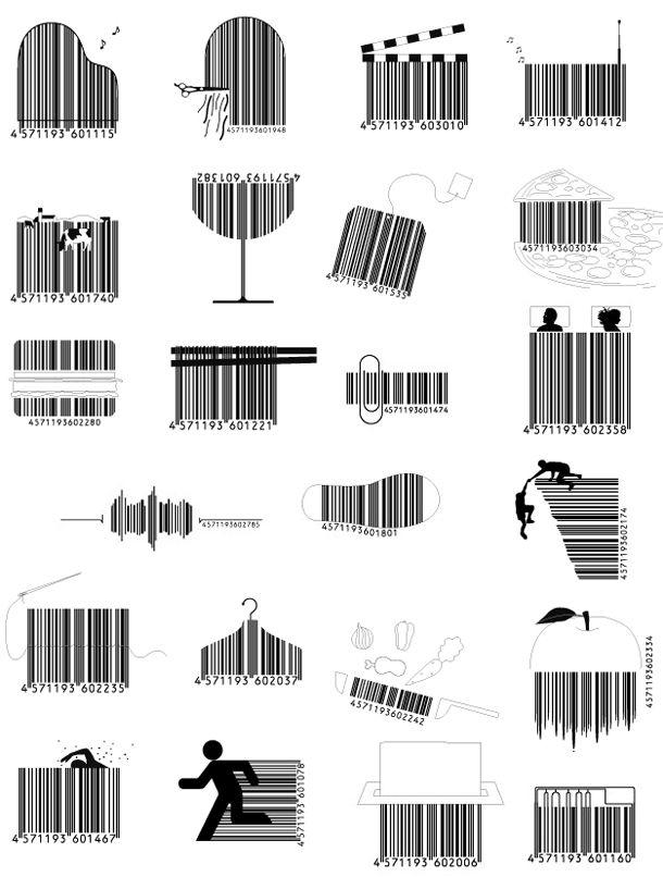 códigos de barras criativos