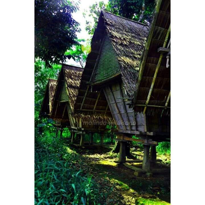 Leuwir. Rice house. Baduy village. Indonesia.