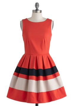 Coral and Navy seems to be my jam this spring. A Dreamboat Come True Dress, #ModCloth